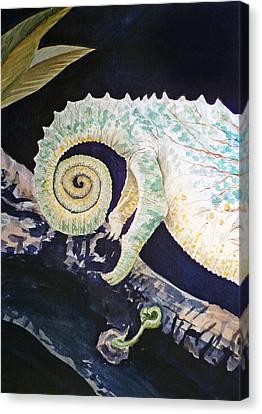 Chameleon Tail Canvas Print by Irina Sztukowski