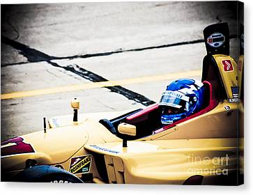 Champ Car Driver Canvas Print by Darcy Michaelchuk