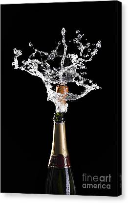 Champagne Cork Explosion Canvas Print by Gualtiero Boffi