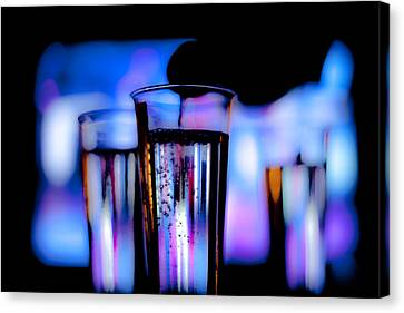 Pouring Wine Canvas Print - Champagne by Hakon Soreide