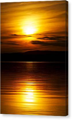 Champlain Sunset Canvas Print by Mike Horvath