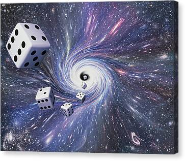 Chance In The Universe Canvas Print by Mehau Kulyk