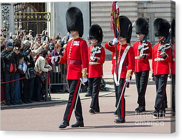 Changing Of The Guard At Buckingham Palace Canvas Print by Andrew  Michael