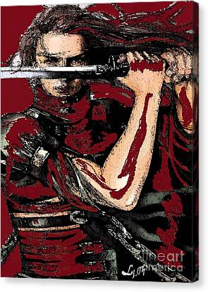 Chango Warrior Canvas Print by Liz Loz