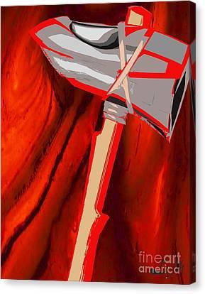 Chango's Axe Liquid Canvas Print by Liz Loz