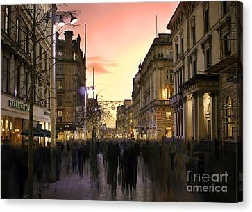 Chaos In The City Canvas Print by Radoslav Toth