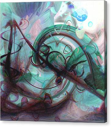 Chaos Canvas Print by Linda Sannuti