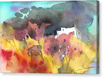 Chapel On Planet Goodaboom Canvas Print by Miki De Goodaboom