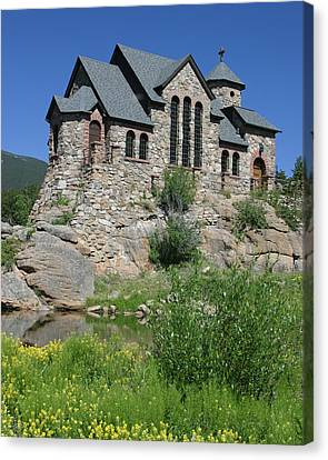 Chapel On The Rock Canvas Print by Gregory Scott