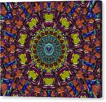 Canvas Print featuring the digital art Chapel Window by Alec Drake