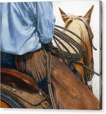 Chaps Canvas Print by Pat Erickson