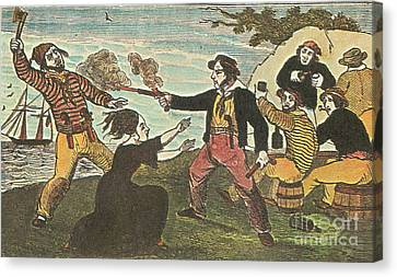 Charles Gibbs, American Pirate Canvas Print by Photo Researchers