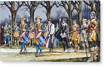 Charles I's Last Walk  Canvas Print by Ron Embleton