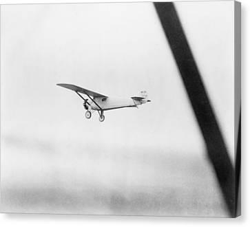 Charles Lindberghs Airplane, The Spirit Canvas Print by Everett