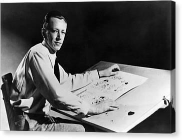 1950s Portraits Canvas Print - Charles M. Schulz, 1922-2000, American by Everett