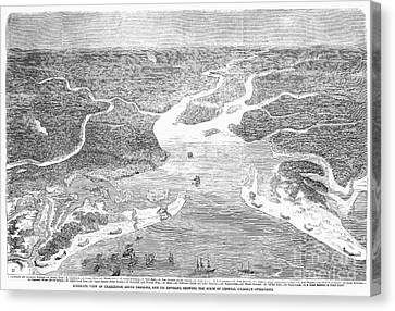 Charleston Blockade, 1863 Canvas Print by Granger