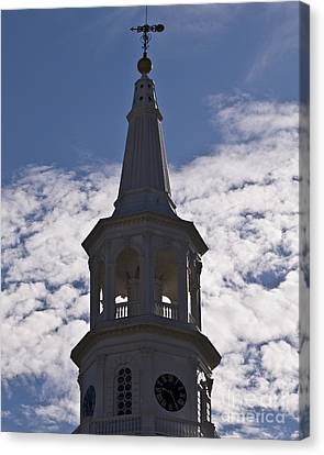 Charleston Clock Canvas Print by Al Powell Photography USA