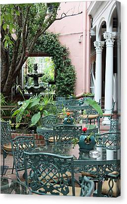 Charleston Dining Canvas Print by Suzanne Gaff