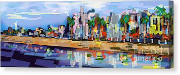 Impressionism Canvas Print - Charleston South Carolina The Battery by Ginette Callaway