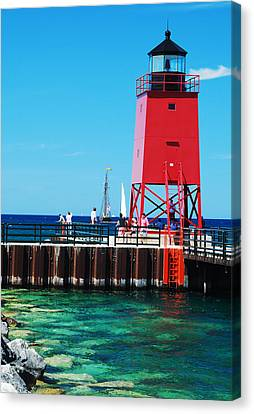 Canvas Print featuring the photograph Charlevoix Light by Janice Adomeit