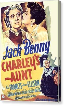 Charleys Aunt, Jack Benny, Kay Francis Canvas Print by Everett