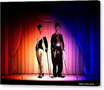 Charlie And Marilyn Canvas Print by Steve K