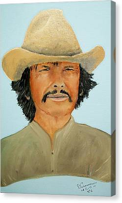 Canvas Print featuring the painting Charlie Boy by Al  Johannessen