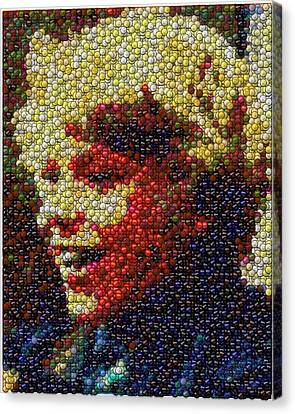Charlie Buckets Fizzy Lifting Drinks  Bottle Cap Mosaic Canvas Print by Paul Van Scott