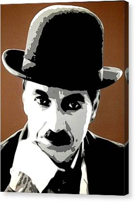 Charlie Chaplin Canvas Print by Dan Carman