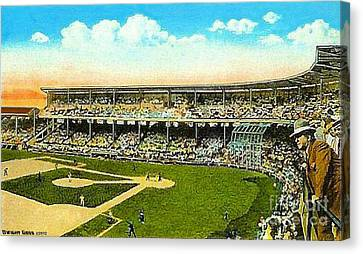 Charlie Comiskey Overlooking His Park In Chicago 1920 Canvas Print by Dwight Goss