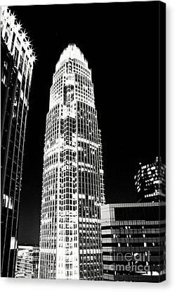 Charlotte North Carolina Bank Of America Building Canvas Print by Kim Fearheiley