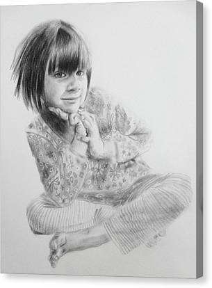 Charlotte Canvas Print by Sandrine Pelissier