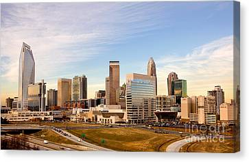 Charlotte Skyline At Daylight Canvas Print by Patrick Schneider