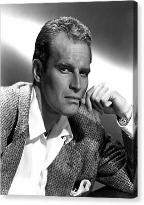 Charlton Heston, 1950s Canvas Print by Everett