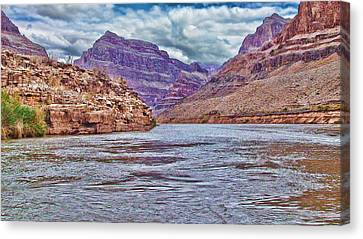 Charting The  Mighty Colorado River Canvas Print by Douglas Barnard