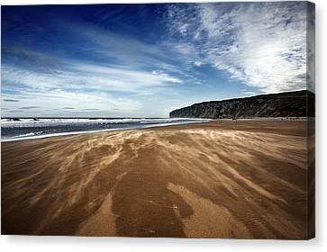 Chasing Sand Canvas Print by Svetlana Sewell