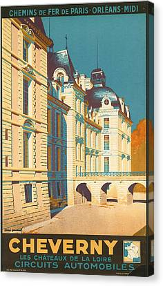 Chateau De Cheverny Canvas Print by Georgia Fowler