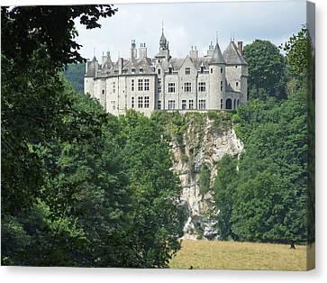 Canvas Print featuring the photograph Chateau De Walzin by Joseph Hendrix