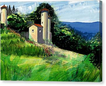 Chateaux De Beaumelles Canvas Print by David Bates