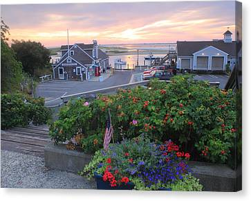 Chatham Fish Pier Summer Flowers Cape Cod Canvas Print