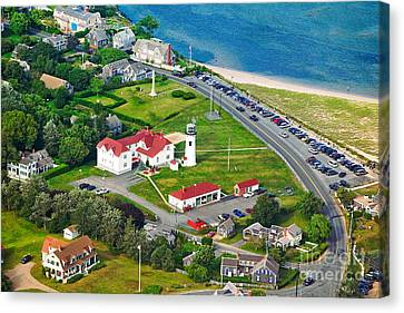 Chatham Lighthouse Cape Cod Massachusetts Canvas Print by Matt Suess