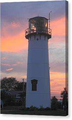 Chatham Lighthouse Tower Sunset Canvas Print