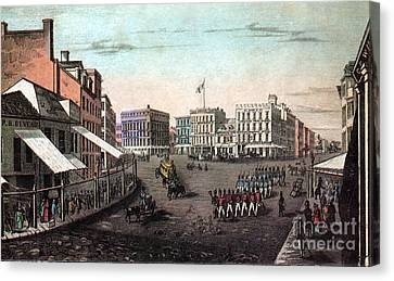 Chatham Canvas Print - Chatham Square, New York, 19th Century by Photo Researchers
