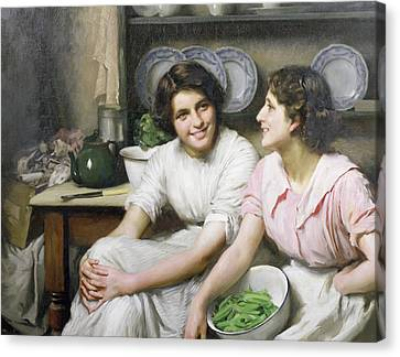 Chatterboxes Canvas Print by Thomas Benjamin Kennington