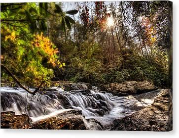Chauga Narrows Waterfall Canvas Print by Brent Craft