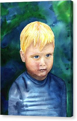 Canvas Print featuring the painting Chayton by Sharon Mick
