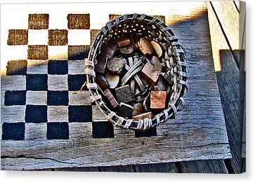 Checkers Canvas Print by Elisia Cosentino