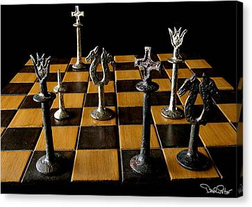 Checkmate Canvas Print by David Salter