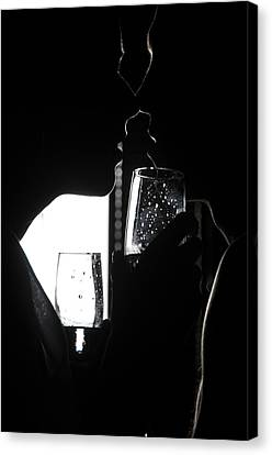 Cheers Before The Kiss Canvas Print by Jenny Rainbow
