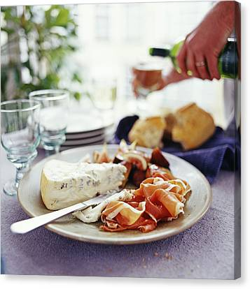 Cheese And Ham Meal Canvas Print by David Munns